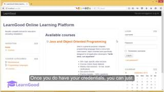 Moodle 3.0 Tutorial for Beginners - Login for the 1st time