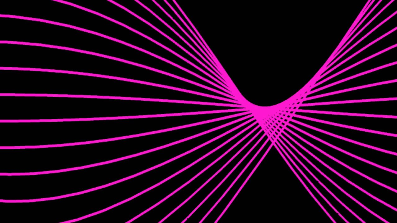 pink lines wave creation black background animation free footage hd