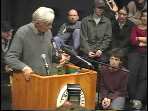 Howard Zinn at Marlboro College - February 16, 2004
