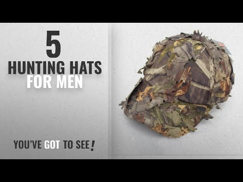 Top 10 Hunting Hats For Men [2018]: 3D Unisex Leaves Camo Ghillie Caps Outdoor Hunting Fishing