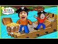 Let's Play Roblox with Ryan's Family Review! Build a Boat For Treasure