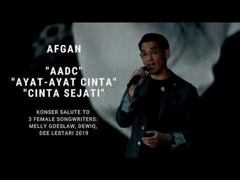 Afgan - AADC/Ayat-ayat Cinta/Cinta Sejati (Konser Salute Erwin Gutawa To 3 Female Songwriters)