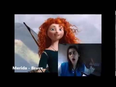 Disney female characters sing LET IT GO
