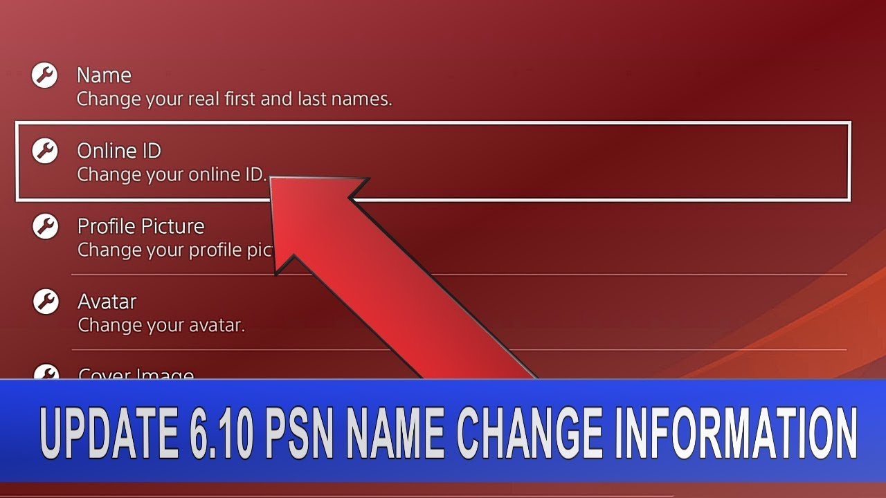 PS4 UPDATE 6.10 [Beta] PSN Name Change Information | Change your Online ID - YouTube