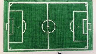 Cómo dibujar un campo de fútbol