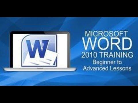 Word Basics Tutorial For Beginners Microsoft Word 2