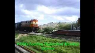 WDM2 Creating mayhem with Hyderabad-Mumbai Express at Hitech City Railway Station.