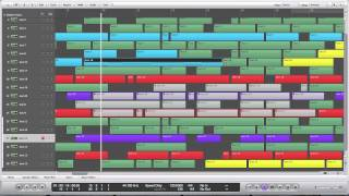 Logic Pro 9 - Force Legato & Overlap Correction Notes & Regions SPEED TIP
