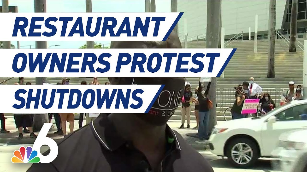Restaurant Owners,Workers Protest Restrictions