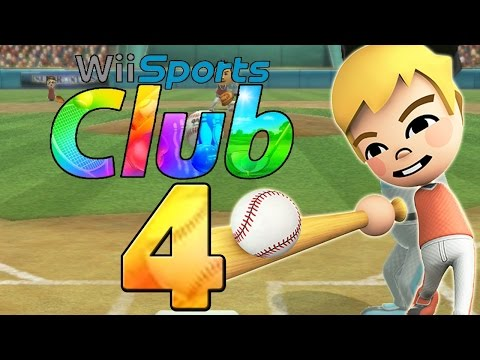Lets Play Wii Sports Club - Part 4 - Baseball