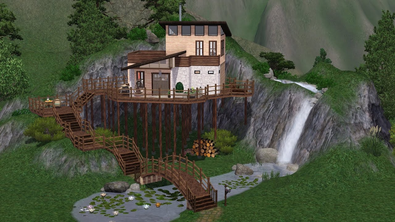 Sims 3 making of mountain house youtube for The mountain house