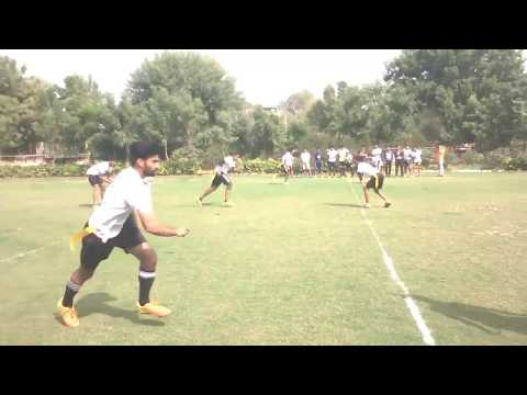 The American flag football match jaipur kids vs jnu