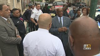 Mayor Young Visits Neighborhoods Across Baltimore In Effort To Reduce Crime