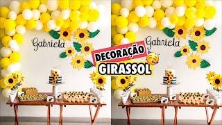 DECORAÇÃO FESTA GIRASSOL (faça você mesmo) - Ep: 7 | Gabriela Melo