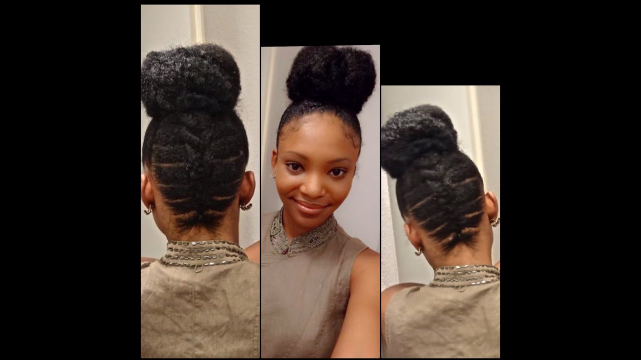 Awesome Braided Updo Hairstyles For Natural Hair Hairstyle Ideas
