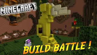 ELLE EST BELLE MA BANANE ! | BUILD BATTLE ( Avec PopiGames ) | Minecraft