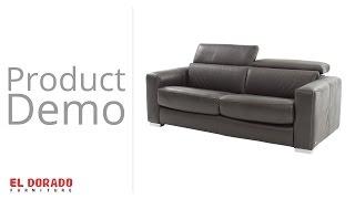 "Bay Harbor Gray 80"" Memory Foam Leather Full Sofa Bed"