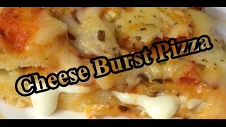 Cheese Burst Pizza At Home Recipe   Easy To Cook Pizza Recipe