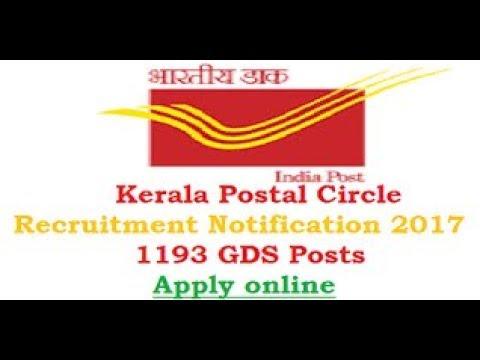Kerala Postal Circle Recruitment 2017 – Apply for 1193 Kerala Post Gramin Dak Sevak (GDS) Vacancy