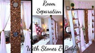 كيفية استخدام الكتب القديمة والحجارة إلى إنشاء 2 غرف في مساحة واحدة على ميزانية!