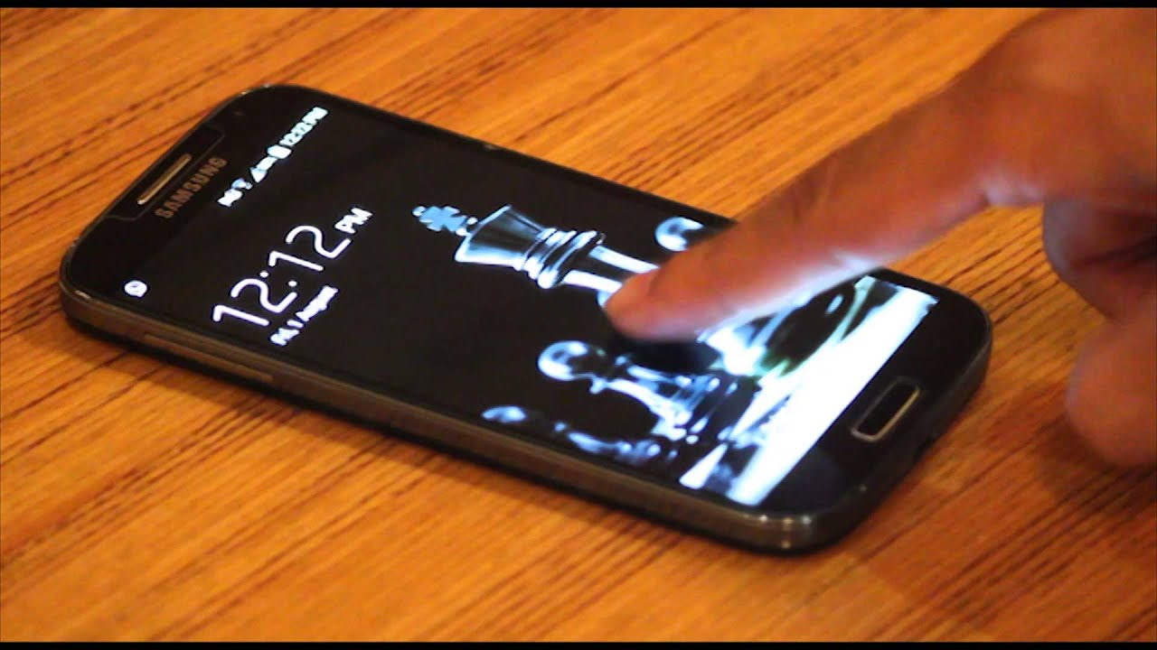 Samsung Galaxy S4 FINGERPRINT SENSOR - YouTube