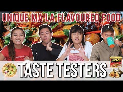 UNIQUE MA LA-FLAVOURED FOOD | Taste Testers | EP 58