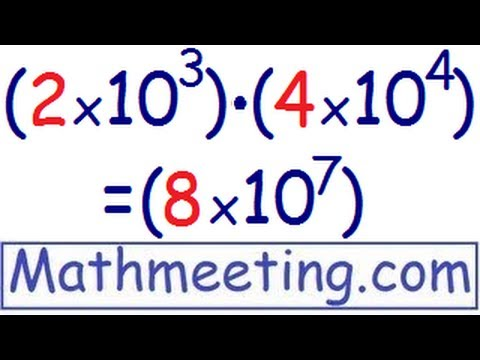 Scientific Notation - Multiplying and Dividing