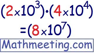 scientific notation multiplying and dividing