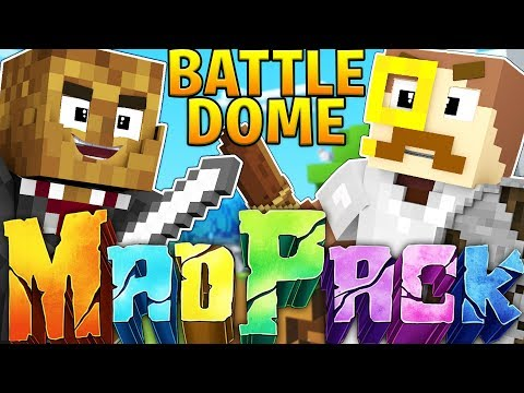 EPIC MODDED MAD PACK WEAPONS - MINECRAFT 1.12.2 MODDED BATTLEDOME