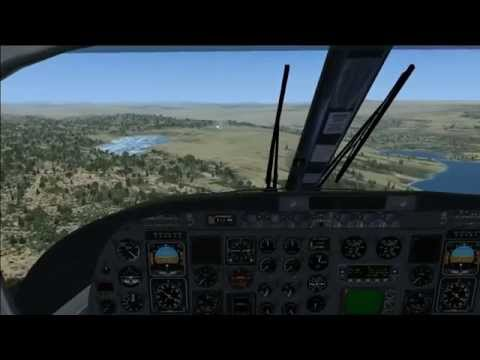 Turbo Commander landing at Batsfjord (ENBS) Norway cockpit view FSX