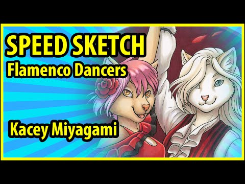 Furry Speed Draw Painting : Kacey Miyagami Speed Paints a Pa