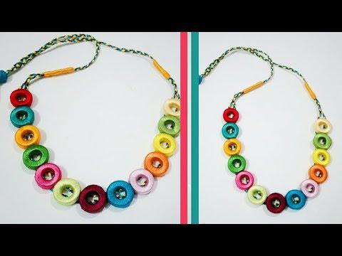 Beautiful silk thread Necklace set | Art & Creativity ❤