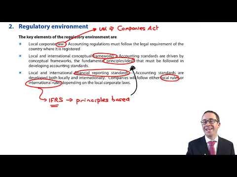 Regulatory environment - CIMA F1 Financial Reporting