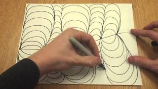 op drawing easy drawings simple optical repetition illusion illusions lines showing
