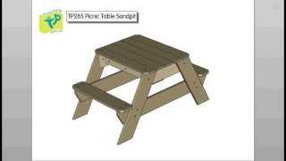 Tp285 Picnic Table Sandpit - Fsc Assembly Instruction Video