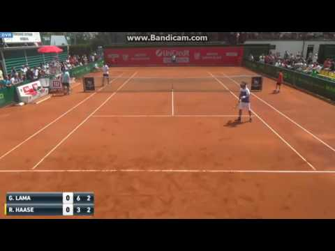 Thumbnail: Robin Haase loses point for hindrance in hilarious fashion during the Prostejov Challenger