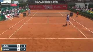 Robin Haase loses point for hindrance in hilarious fashion during the Prostejov Challenger by : Chriz2k