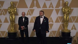 Del Toro 'speaking from the heart' on Oscar stage