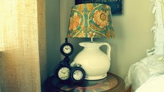 Diy How To Decorate & Arrange Your Nightstand Bedside Table In Your Room Tour