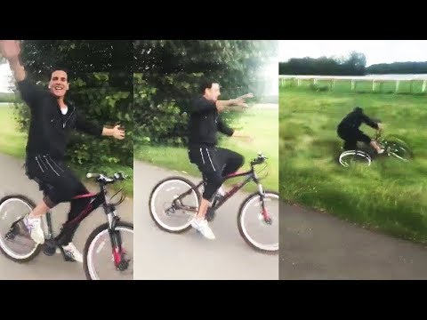 Akshay Kumar's Cycle Stunt Goes Terribly Wrong | Akshay Kumar Fell Down From Cycle And Got Injured Mp3