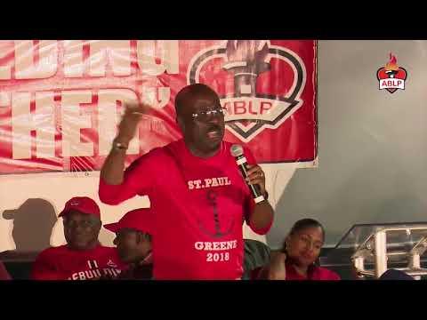 EP Chet Greene Public Meeting Antigua & Barbuda Labour Party