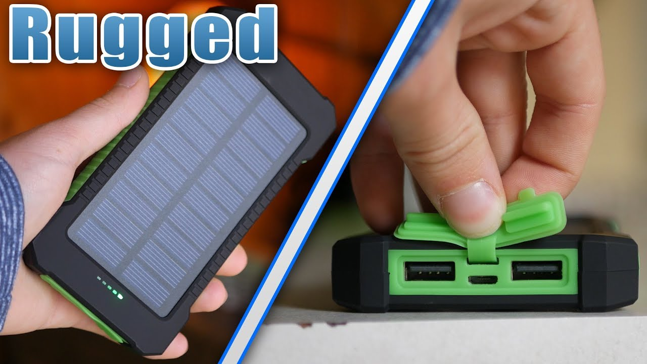 new style 41743 04340 Most Rugged Solar Power Bank - FLOUREON 10,000 mAh Solar Charger Review