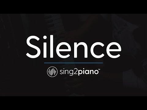 Silence (Piano Karaoke Instrumental) Marshmello & Khalid
