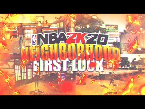 FIRST CHANCE LOOK AT THE NEW NEIGHBORHOOD IN NBA 2K19! WHAT
