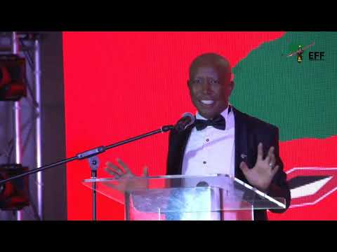 CIC Julius Malema addressing Business People at the EFF Gala Dinner