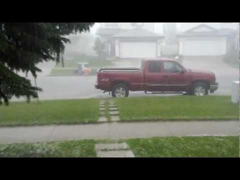 Edmonton storm August 23, 2012 quarter size hail