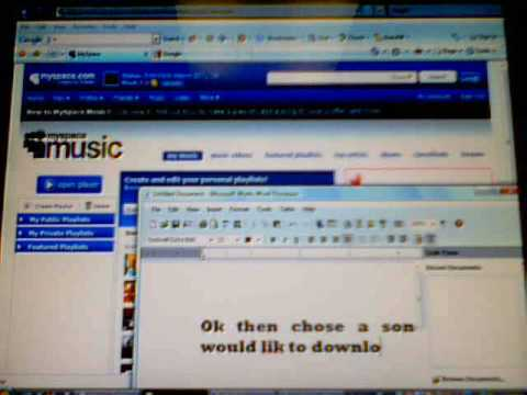 how to download music from myspace