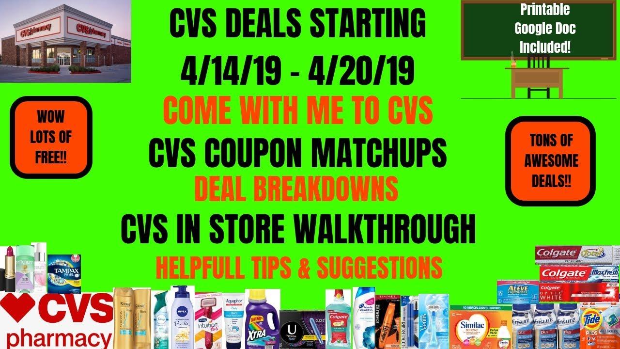 861dd1ff52e WOW FREE & CHEAP CVS Deals Starting 4/14/19~CVS In Store Walkthrough ...