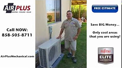 Fujitsu Ductless Mini Split San Diego | Best Ductless Mini Split Air Conditioners