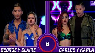 Un terrible percance hizo que George y Claire hicieran hasta lo imposible por terminar su baile